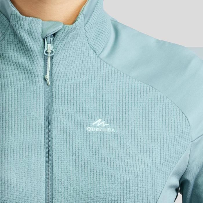 Fleece vest voor bergwandelen dames MH520 lichtkaki