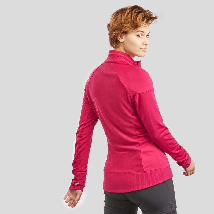 Fleece vest voor bergwandelen dames MH520 frambozenrood