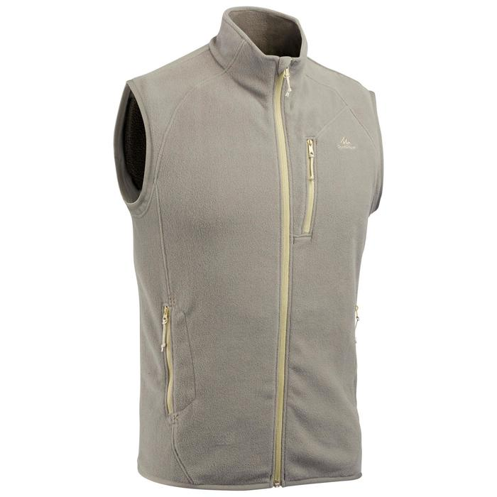 Men's Mountain Walking Fleece Gilet MH120 - Khaki