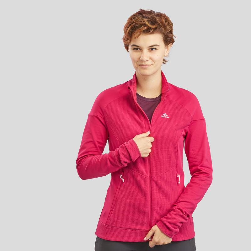 Women's Mountain Walking Fleece Jacket MH520 - Raspberry