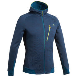Men's Mountain Walking Fleece Jacket MH900 - Mottled Blue