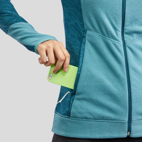 Jaket Fleece Mendaki Gunung Wanita MH520 - Biru