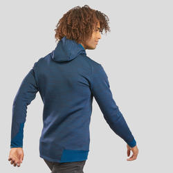 Men's Mountain Hiking Fleece Jacket MH900 - Mottled Blue