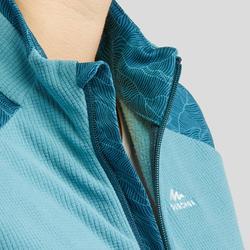 Veste polaire de randonnée montagne femme MH520 bleue