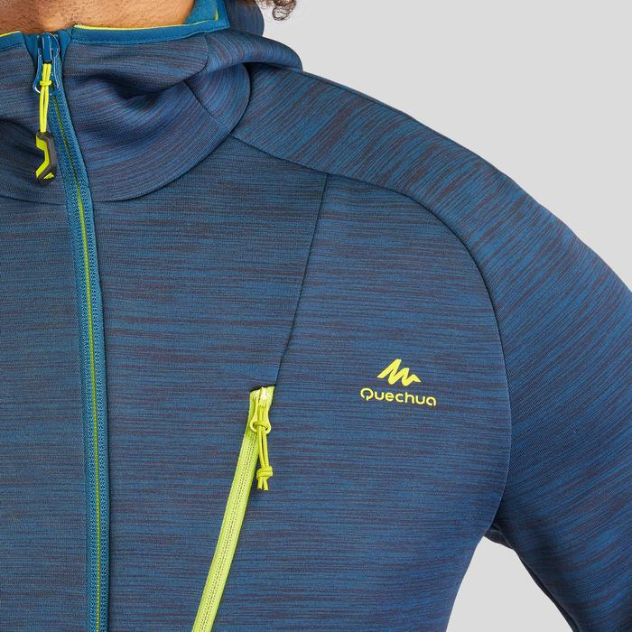 Fleece vest voor bergwandelen heren MH900 gemêleerd blauw