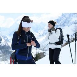 Veste softshell de randonnée neige femme SH900 warm bleu.
