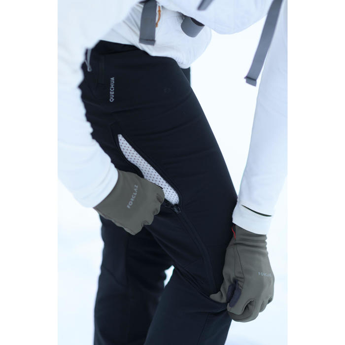 Pantalon chaud de randonnée femme SH520 x-warm noir