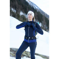 Warm snow hiking softshell jacket SH900 – blue.