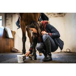 Pantalón Equitación Fouganza 500 Kipwarm Niño Azul Marino Cálido Impermeable