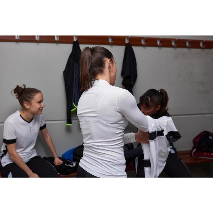 Ondershirt met lange mouwen voor voetbal dames Keepdry 500 gletsjerwit