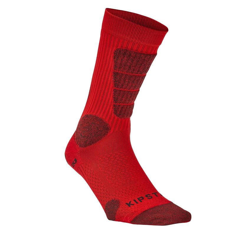 Chaussettes de football courtes adulte MiD rouge