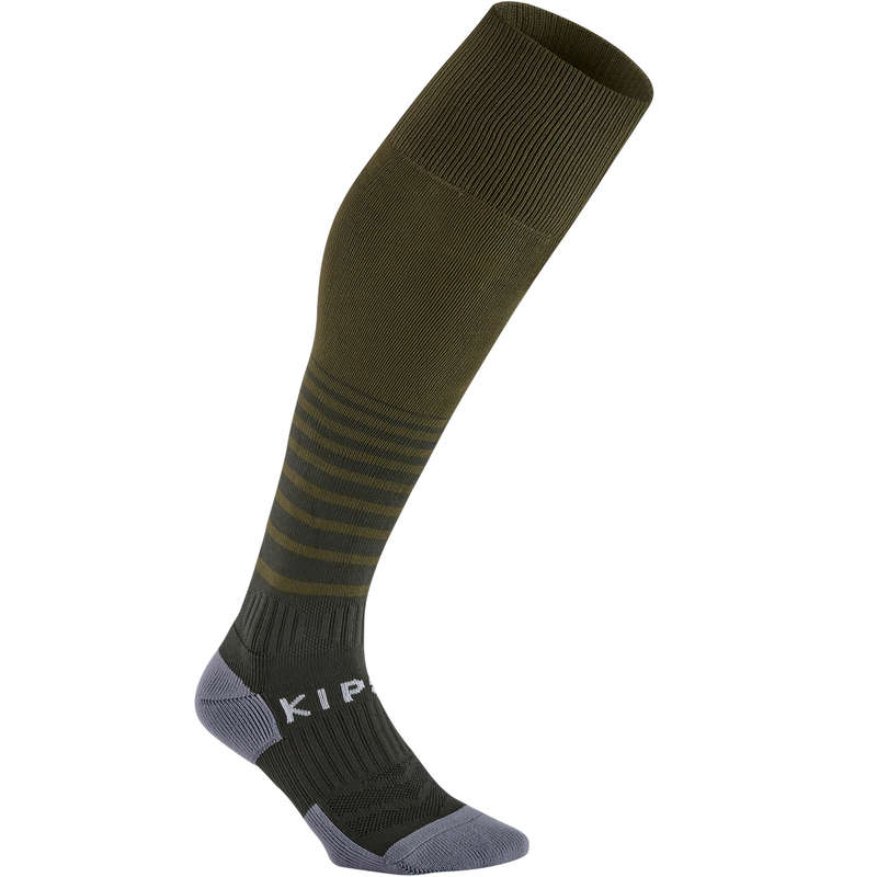 ADULT FOOT SOCKS Football - F500 Adult - Khaki KIPSTA - Football Clothing