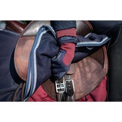 Gants chauds d'équitation enfant 140 WARM marine/bordeaux