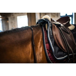 """Paddock Horse Riding All-Purpose 17.5"""" Adjustable Tree Leather Saddle - Brown"""