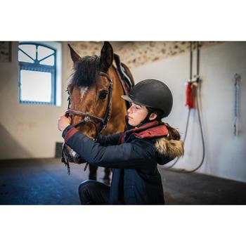 Parka Equitación Fouganza 500 Warm Niño Azul y Burdeos Cálida Impermeable
