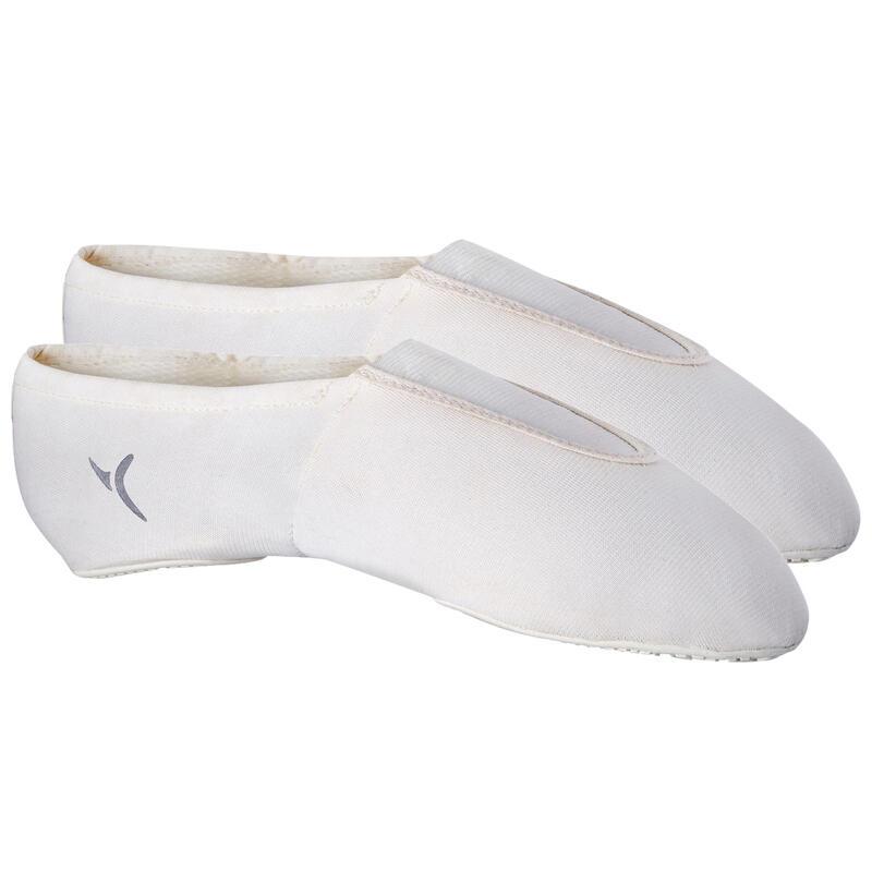 Chaussons Mesh blanc 500 Gymnastique Artistique Féminine et Masculine.