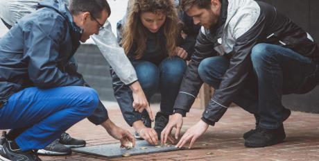 Comptez les points au jeu de palets breton