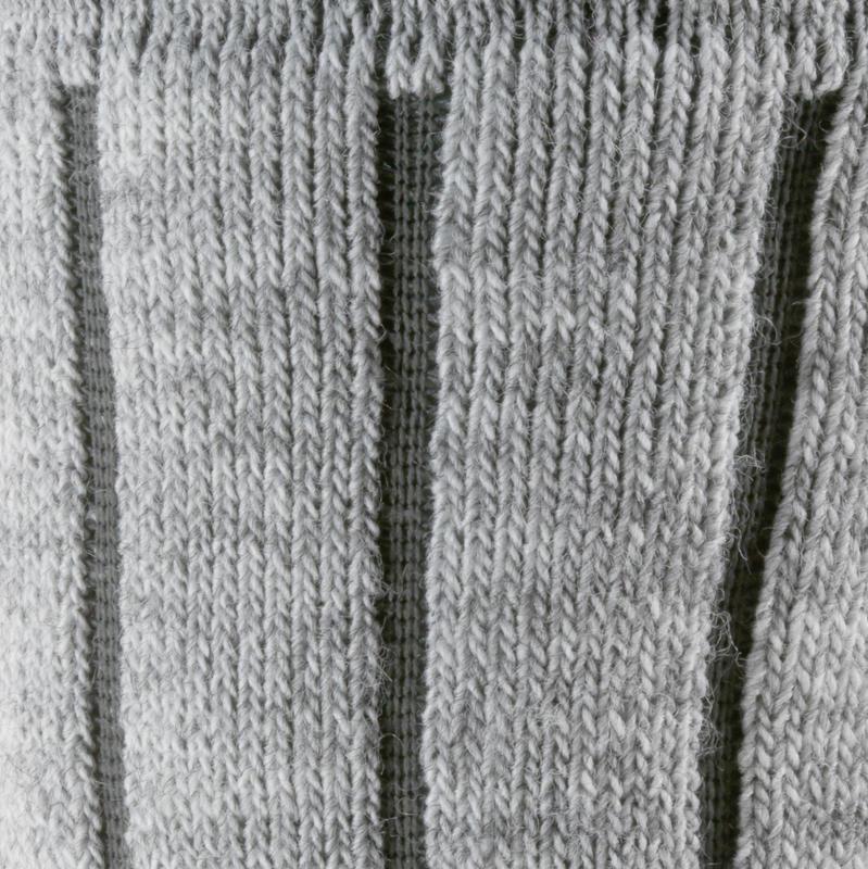 Calcetines de hiking nieve adulto SH100 warm mid gris.