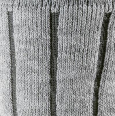 Medias de senderismo nieve adulto SH100 warm mid gris.