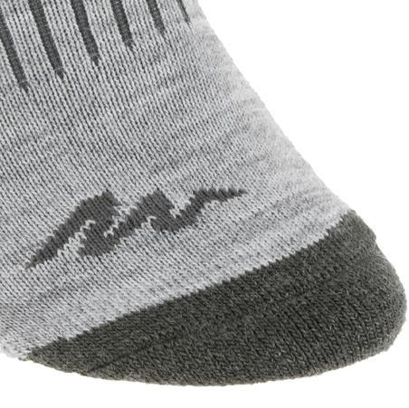 Дитячі шкарпетки SH100 для зимового туризму - Сірі