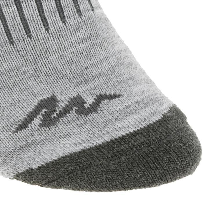 Chaussettes chaudes de randonnée adulte SH100 warm mid grises.