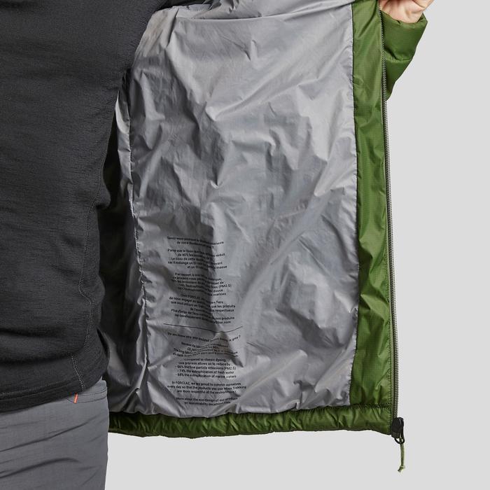 Doudoune de trek montagne - TREK 100 CAPUCHE vert homme