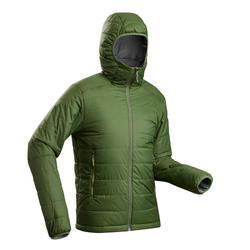 Doudoune en ouate de trek montagne - confort -5°C - TREK 100 capuche vert homme