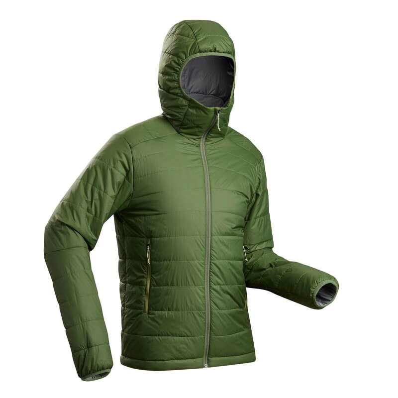 MEN DOWN JACKET, VEST MOUNTAIN TREK Trekking - M hooded padded jacket TREK100 FORCLAZ - Trekking