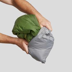 Gewatteerde jas met capuchon voor bergtrekking heren Trek 100 groen
