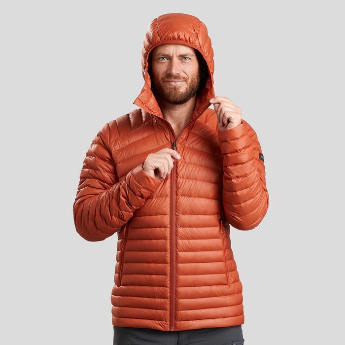Donsjas voor bergtrekking heren - Trek 100 oranje