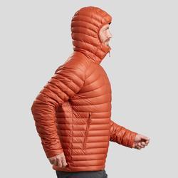Doudoune de trek montagne - TREK 100 DUVET orange homme