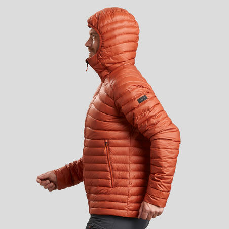 Men's Mountain Trekking Down Jacket TREK 100 Down - Orange
