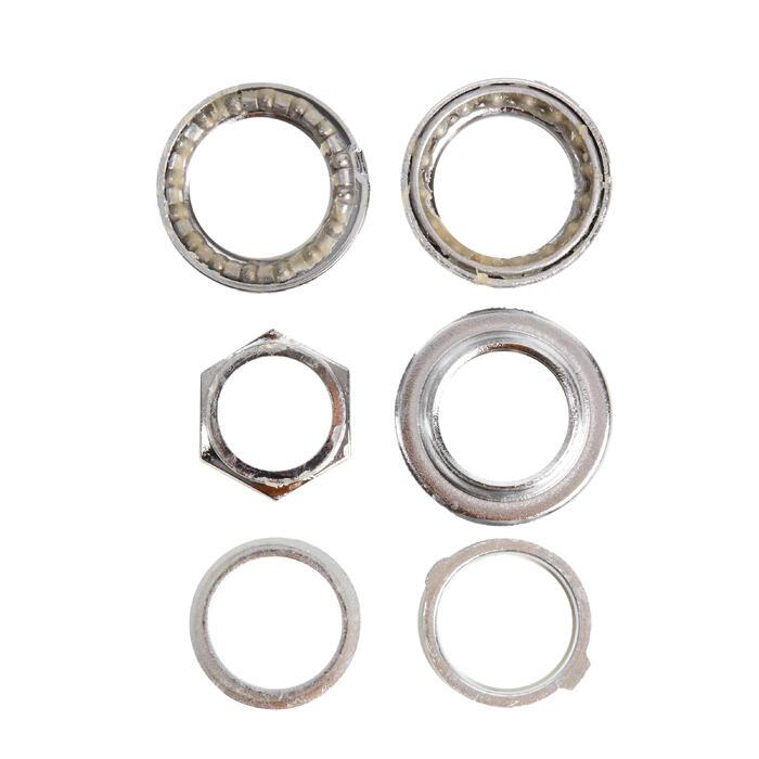 Balhoofdstel 1 inch opschroefbaar met hoekvergrendeling zilver