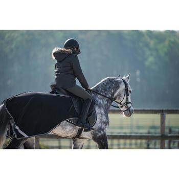 Ausreitdecke Polar 500 Pferd schwarz