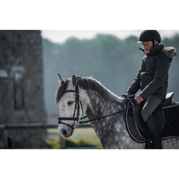 Hoofdstel ruitersport 580 Glossy zwart - maat pony