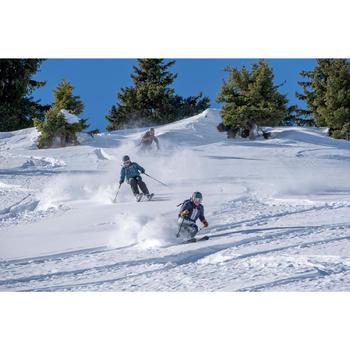 MASQUE DE SKI ET DE SNOWBOARD ENFANT ET ADULTE G 500 I TOUS TEMPS NOIR