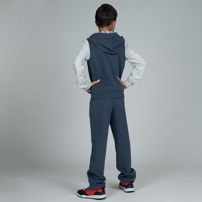 兒童款籃球初學者運動外套J100-藍灰配色