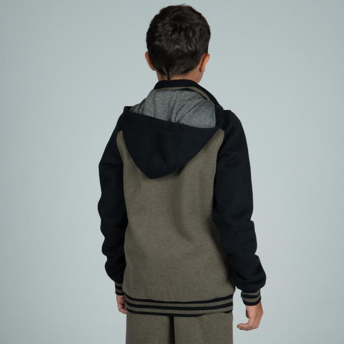 兒童款籃球初學者運動外套J100-黑綠配色