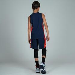 MAILLOT DE BASKETBALL POUR GARCON/FILLE CONFIRME(E) NAVY ORANGE T500