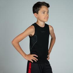 兒童款中階籃球底層衣UT500-黑色