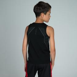 Ondershirt basketbal voor gevorderde jongens/meisjes zwart UT500