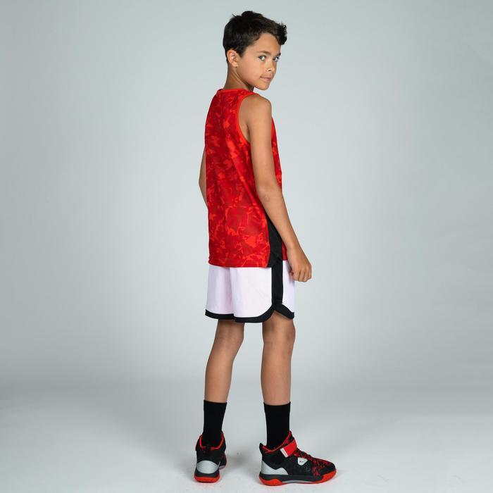 Wendeshorts Basketball SH500R Kinder rot/weiß