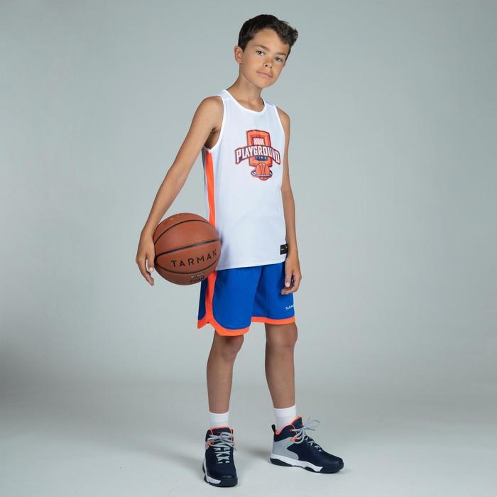 T500R Boys'/Girls' Intermediate Basketball Reversible Jersey - Blue/White