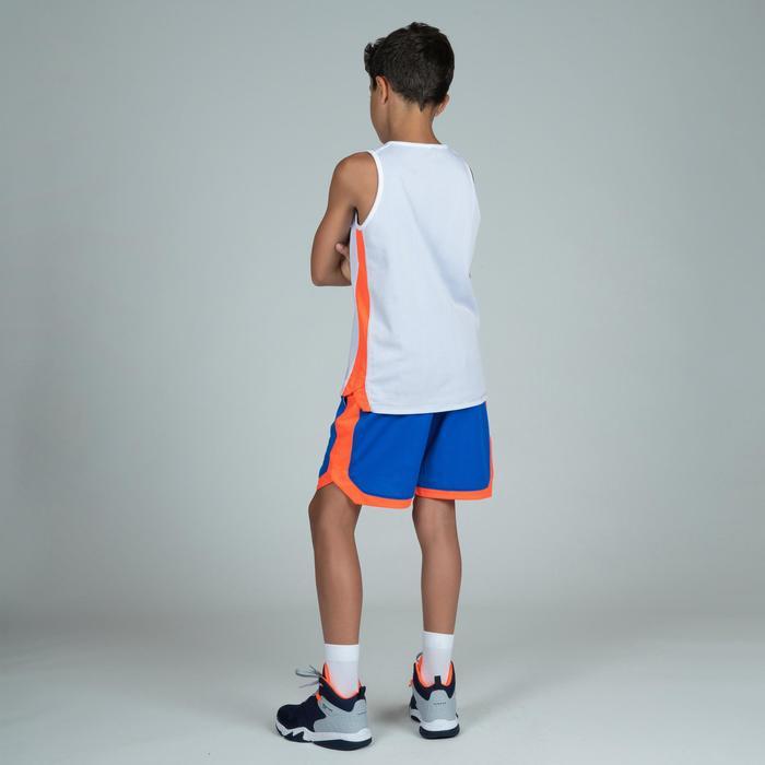Camiseta Reversibe Baloncesto Tarmak T500R Niños Sin Mangas Azul Blanco