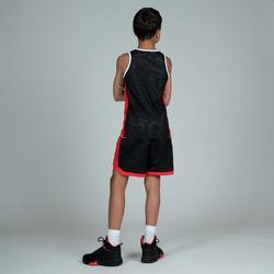 兒童款雙面背心T500R-灰色/黑色