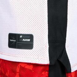 Omkeerbaar basketbalshirt halfgevorderde jongens/meisjes rood wit Ball T500R