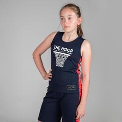 Camiseta Baloncesto Tarmak T500 Niños Sin Mangas Azul Rosa