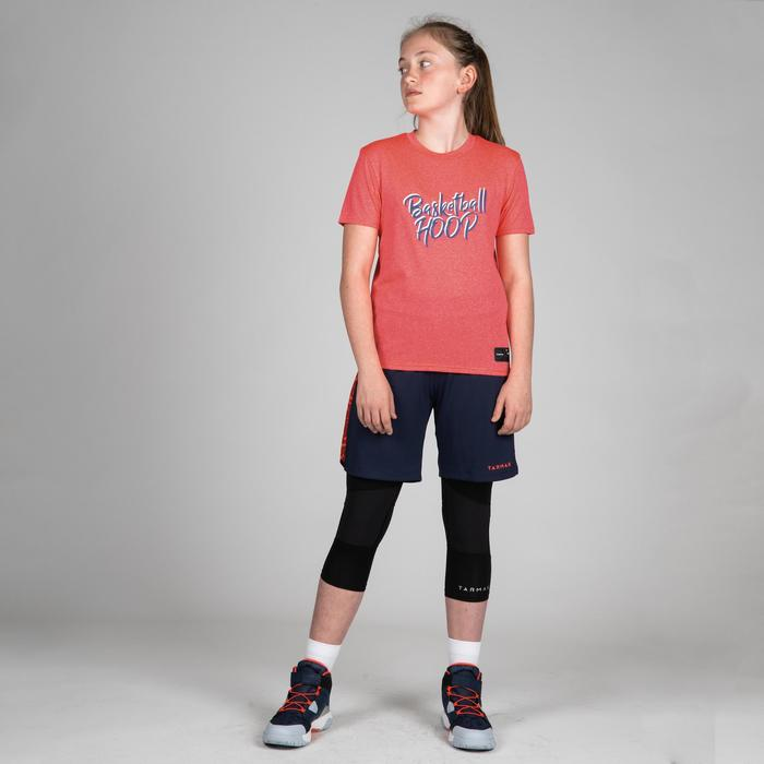 Basketbalshirt voor gevorderde jongens/meisjes roze BBL Hoop TS500