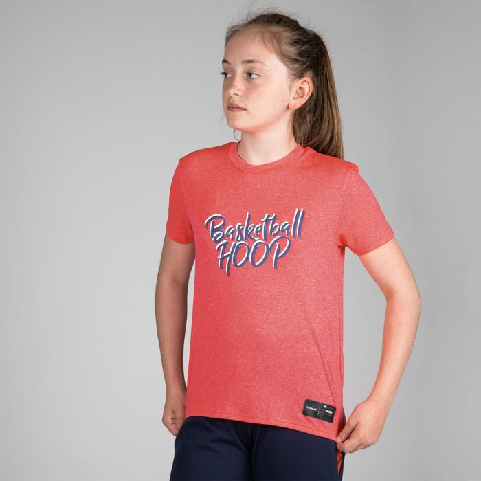 T-SHIRT DE BASKETBALL POUR GARCON/FILLE CONFIRME(E) ROSE BBL HOOP TS500