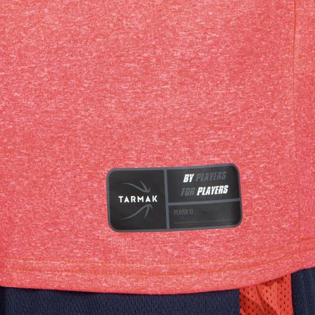 Girls'/Boys' Basketball T-Shirt / Jersey TS500 - Pink BBL Hoop